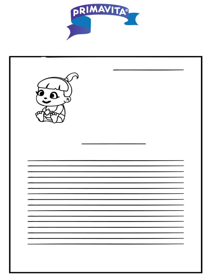 Briefpapier Primavita baby - Knutselen briefpapier