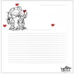 Thema Kleurplaten - Briefpapier Valentijn
