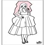 Thema Kleurplaten - Bruid