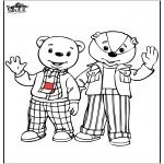 Kinderkleurplaten - Bruintje beer en zijn vriendje