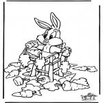 Stripfiguren Kleurplaten - Bugs Bunny 2