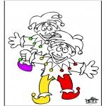 Thema Kleurplaten - Carnaval 18