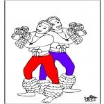 Thema Kleurplaten - Carnaval 4
