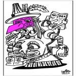 Thema Kleurplaten - Carnaval 9