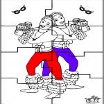 Thema Kleurplaten - Carnaval puzzel