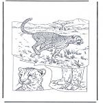 Kleurplaten Dieren - Cheetah
