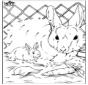 Cijfertekening konijn