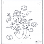 Allerlei Kleurplaten - Circus apen