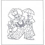 Allerlei Kleurplaten - circus clown