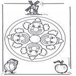 Mandala Kleurplaten - Clown mandala
