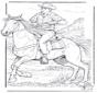 Cowboy met paard