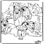 Kleurplaten Bijbel - Daniel in de leeuwenkuil 3