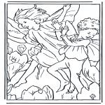 Allerlei Kleurplaten - Dansende elfjes