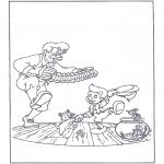 Stripfiguren Kleurplaten - Dansende pinokkio