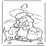 Kleurplaten Bijbel - David als herder