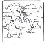 Kleurplaten Bijbel - David de herder