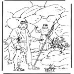 Kleurplaten Bijbel - David en Saul