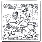 Kleurplaten Bijbel - De barmhartige Samaritaan 1