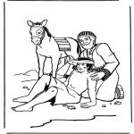Kleurplaten Bijbel - De barmhartige Samaritaan 2