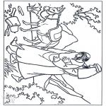 Kleurplaten Bijbel - De barmhartige Samaritaan 3