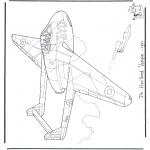 Allerlei Kleurplaten - de Havilland Vampire