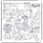 Kerst Kleurplaten - De kerstster