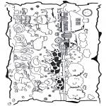 Kinderkleurplaten - De kinderboerderij