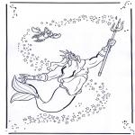 Stripfiguren Kleurplaten - De Kleine zeemeermin 2