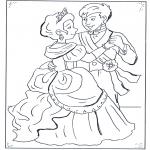 Stripfiguren Kleurplaten - de prins en Assepoester