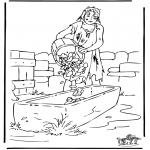 Kleurplaten Bijbel - De verloren zoon 3