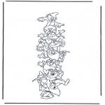 Stripfiguren Kleurplaten - De Zeven Dwergen