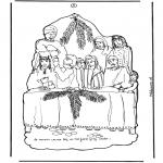 Kleurplaten Bijbel - Deel 3 Knutselplaat