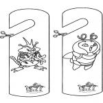 Knutselen - Deurhanger Pokemon