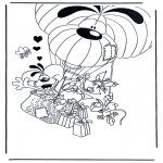 Stripfiguren Kleurplaten - Diddl 11