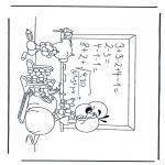 Stripfiguren Kleurplaten - Diddl 17