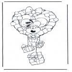 Stripfiguren Kleurplaten - Diddl 18