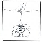 Stripfiguren Kleurplaten - Diddl 27