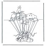 Stripfiguren Kleurplaten - Diddl 28