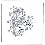 Stripfiguren Kleurplaten - Diddl 32