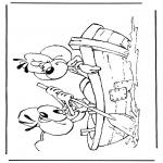 Stripfiguren Kleurplaten - Diddl 38