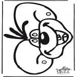 Stripfiguren Kleurplaten - Diddl Masker