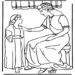 Kleurplaten Bijbel - Dienstmeisje Naaman