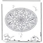 Mandala Kleurplaten - Dieren geomandala 2