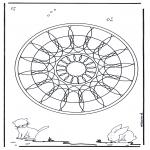 Mandala Kleurplaten - Dieren geomandala 4
