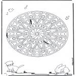 Mandala Kleurplaten - Dieren geomandala 6