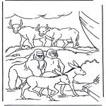 Kleurplaten Bijbel - Dieren in de ark