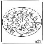 Mandala Kleurplaten - Dieren mandala 1