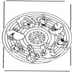 Mandala Kleurplaten - Dieren Mandala 2