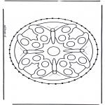 Knutselen Borduurkaarten - Dieren Mandala