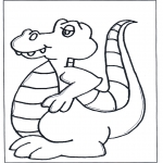 Kinderkleurplaten - Dino kleurplaat